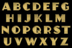Digital Scrapbook Alphabet Vaudeville Marquee Royalty Free Stock Photography