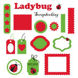 Digital scrapbook. Ladybug Royalty Free Stock Images