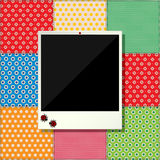 Digital scrapbooking photo frame Stock Image