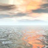 Digital seascape Stock Photo