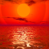 Digital seascape Stock Images