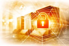 Digital security concept. Digital illustration of security concept Royalty Free Stock Image