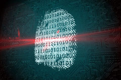 Digital security finger print scan Royalty Free Stock Image