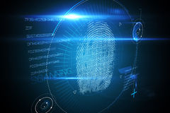 Digital security finger print scan Royalty Free Stock Images