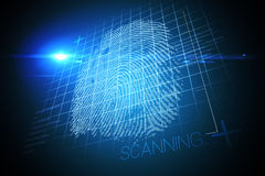Digital security finger print scan Stock Photo