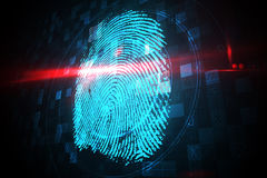Digital security finger print scan Stock Images