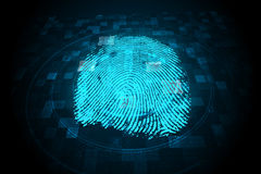 Digital security finger print scan Royalty Free Stock Photo