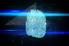 Digital security finger print scan Stock Photos