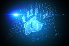 Digital security hand print scan Royalty Free Stock Photography