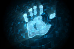 Digital security hand print scan Stock Image