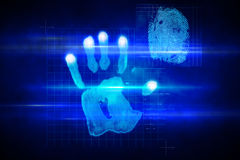 Digital Security Hand Print Scan Stock Illustration