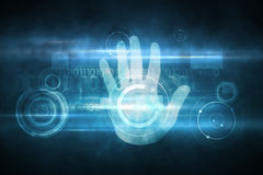 Digital security hand print scan Royalty Free Stock Photo