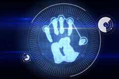 Digital security hand print scan Royalty Free Stock Image