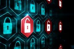 Digital security lock Stock Image