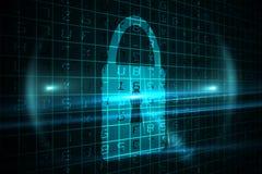 Digital security lock Stock Photos