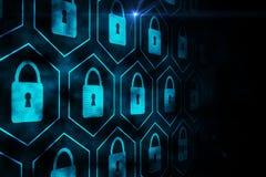 Digital security lock Stock Photo