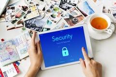 Digital Security Lock screen Concept Royalty Free Stock Photos