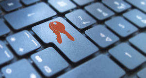 Security concept: Digital Security & Protection Royalty Free Stock Photos