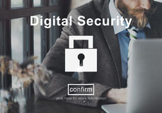 Digital Security Protection Privacy Interface Concept Stock Image