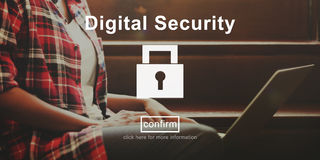 Digital Security Protection Privacy Interface Concept. Digital Security Protection Privacy Interface Stock Photography