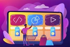 Free Digital Service Marketplace Concept Vector Illustration. Royalty Free Stock Photo - 140339065