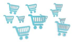 Digital shoppingsymboler isolerade tolkningen 3D Royaltyfria Foton