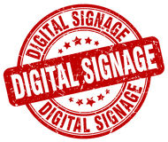 Digital signage red stamp Stock Photos