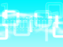 Digital Signal. Abstract digital signal on sky blue Royalty Free Stock Photo