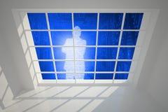 Digital silhouette seen through window Royalty Free Stock Photos