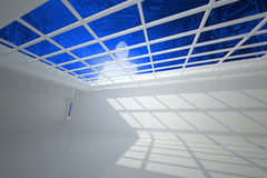 Digital silhouette seen through window Royalty Free Stock Image