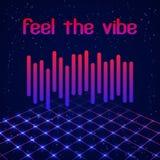 Digital simple equalizer (sound wave) Royalty Free Stock Image