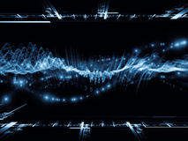 Digital Sine Wave Background Royalty Free Stock Photography