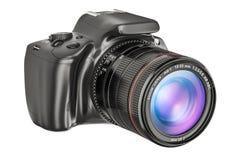 Digital singel-Lens reflexkamera, closeup framförande 3d vektor illustrationer