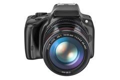 Digital singel-Lens reflexkamera, tolkning 3D vektor illustrationer