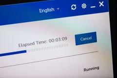 Digital skärm med maskinvara för servicehjälpprogramvara arkivbilder