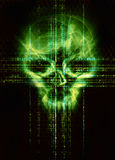 Digital skull background Stock Photo