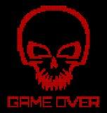 Digital skull virus Stock Photo