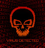 Digital skull virus Royalty Free Stock Photo