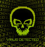 Digital skull virus Royalty Free Stock Images