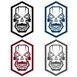 Digital skulls bone. Set of digital skulls icon art royalty free illustration