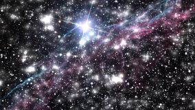 Digital sky with stars and nebula background stock video footage