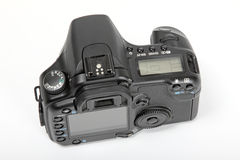 Digital SLR. Top and rear of a modern digital slr camera Royalty Free Stock Photography