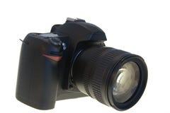 Digital SLR Camera. Isolated on white royalty free stock images