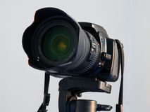 Digital SLR Camera. Standing on a tripod Stock Image