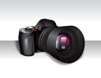 Digital SLR Camera. A rendering of a digital or DSLR camera, both body and lens Stock Photo