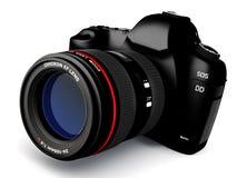 Digital slr camera. Digital photo camera  on white - 3D render Stock Photo