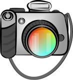 Digital SLR camera. This illustration depicts a digital SLR camera Royalty Free Stock Photos
