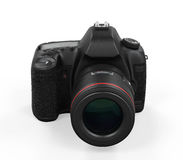Digital SLR Camera Isolated. On white background. 3D render Royalty Free Stock Photo