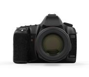 Digital SLR Camera Isolated. On white background. 3D render Stock Photos