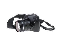 Digital SLR Camera isolated on white. Stock Image